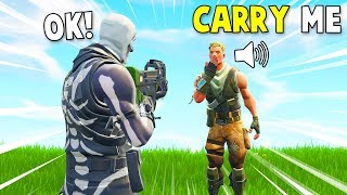 SKULL TROOPER CARRIES NOOBS ON FORTNITE!