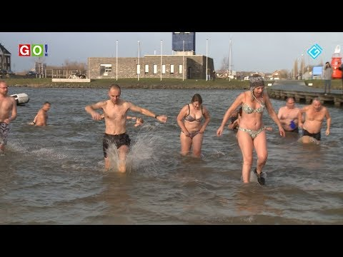Nieuwjaarsduik 2019 Blauwestad - RTV GO! Omroep Gemeente Oldambt