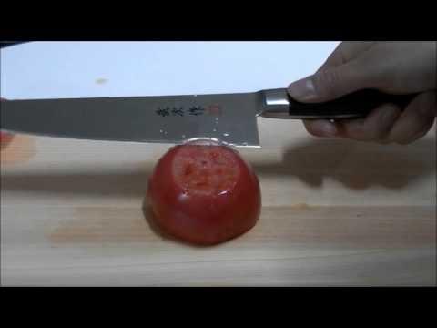 Coltello da cucina del Giappone - Test di taglio (5)
