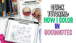 ☆ HOW I COLOR IN GOODNOTES | Quick Tutorial on iPad Pro 10.5 | September Studies