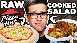 Raw Cooked Food vs. Cooked Raw Food Taste Test