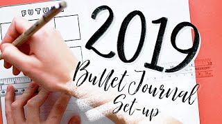 New Bullet Journal ✨2019✨ Set-up! Inspiration for the first pages of your journal...📖