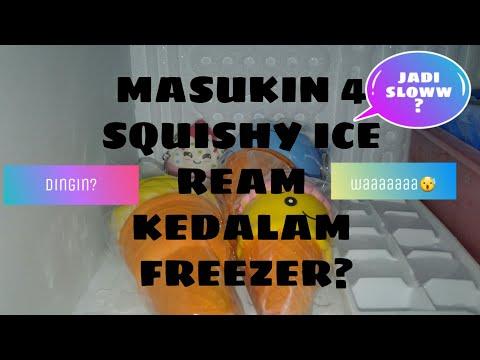 Hah!!!SQUISHY KU DIMASUKIN KE FREEZER?|clover clover channel