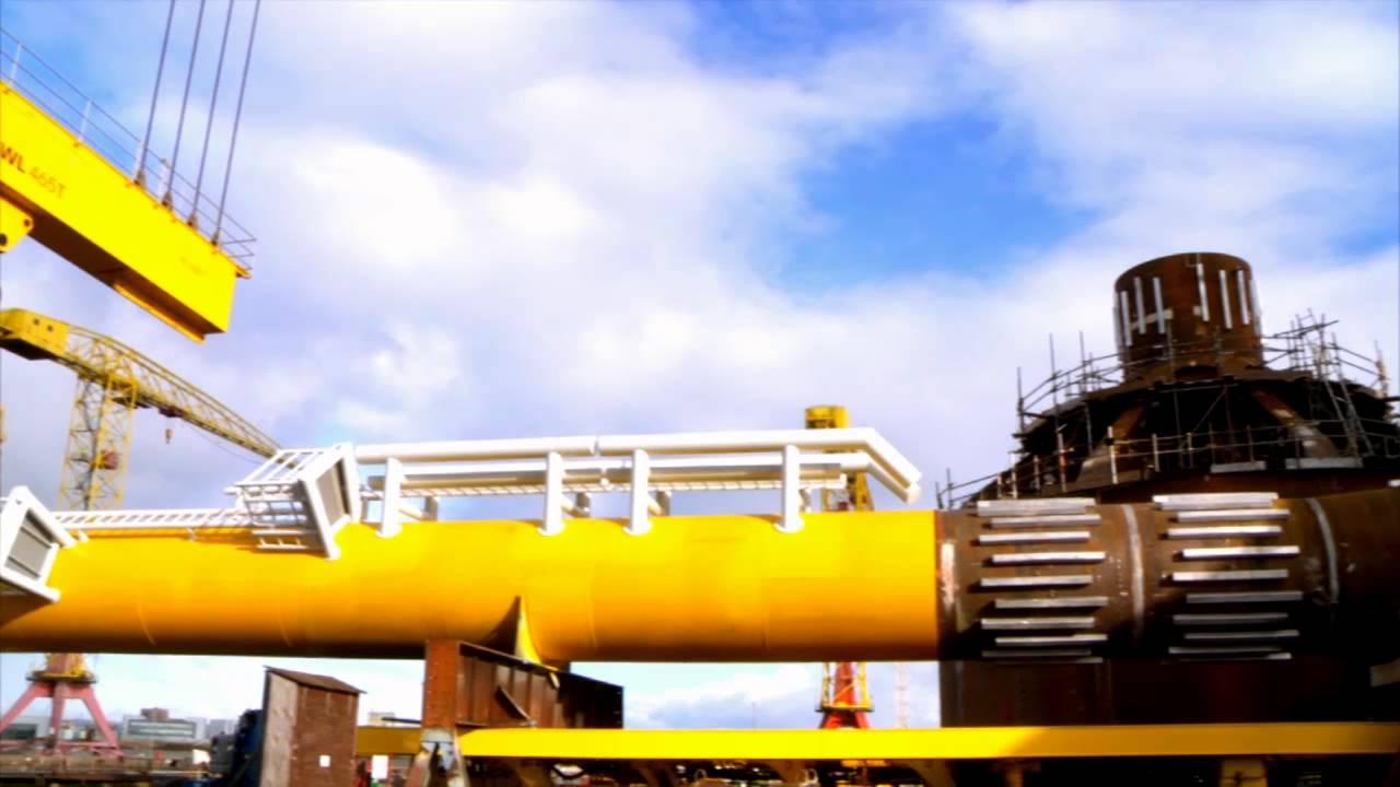 Dogger Bank mast installation