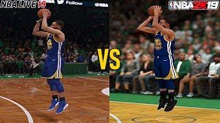 NBA 2K19 vs NBA Live 19 Graphics Comparison (PS4 Pro)