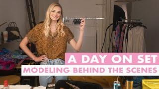 Day In The Life Of A Model | Fashion Shoot Prep, Models On Set, & Get Unready With Me | Sanne Vloet