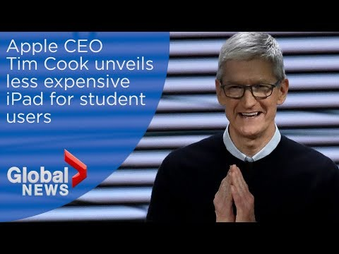 Apple unveils cheaper iPad, digital pencil tool in effort to attract school users