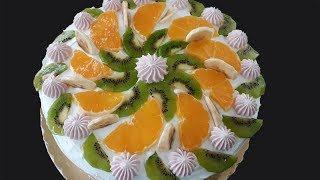 kış meyveleri ile yaş pasta yapımı - Yaş Pasta Tarifi