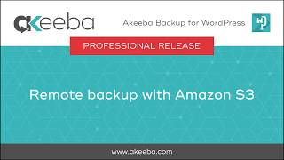 Watch a video on Remote Backup with Amazon S3 [03:44]