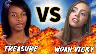 Treasure from Dr. Phil VS Woah Vicky | VERSUS | Before They Were Famous