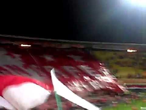 """""""Recibimiento a Independiente Santa Fe Vs tolima Copa Libertadores de América TIFO"""" Barra: La Guardia Albi Roja Sur • Club: Independiente Santa Fe • País: Colombia"""