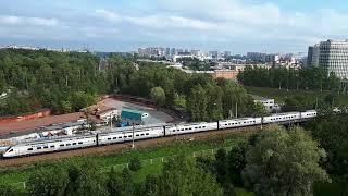 Международный поезд Аллегро с высока