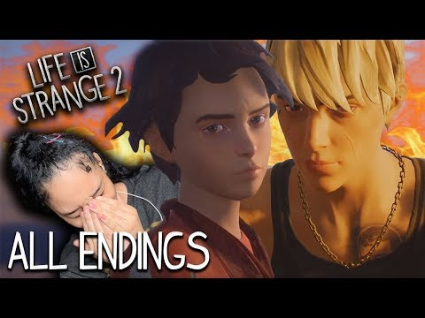REACTING TO ALL ENDINGS IN LIFE IS STRANGE 2 (EPISODE 5)