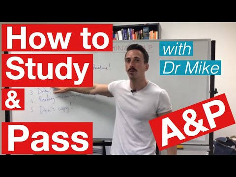 How to study and pass Anatomy & Physiology!