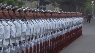 Daily training Chinese naval honor guard 2(仪仗队的日常)