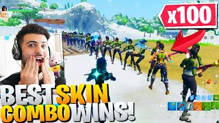 I Hosted A 100 PLAYER Fortnite FASHION Contest! (Best Skin & Emote Wins!)