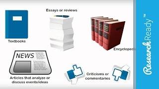 Understanding Primary & Secondary Sources