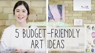 5 Budget Art Ideas + How To Hang Art On Brick Walls