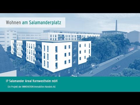 Auf dem ehemaligen Produktionsgelände des Schuhherstellers Salamander entstehen insgesamt 121 Eigentumswohnungen, ein REWE-Lebensmittelmarkt und 5 Gewerbeeinheiten.