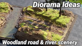 Realistic Scenery - How To Build Forest Road And River Diorama DIY