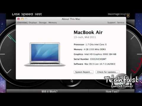 Apple Mac Book Air (early 2015) SSD Speed test - смотреть