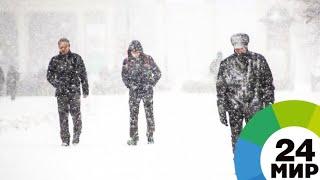 Молдову накрыл весенний снегопад - МИР 24