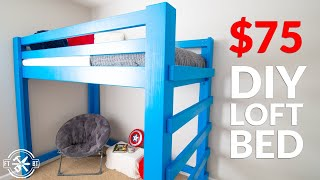 Build Your Kids Dream Bed From 2x4s | DIY Loft Bed