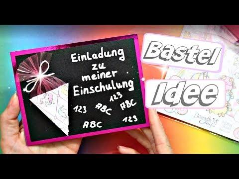 EINLADUNG für EINSCHULUNG selber basteln   DIY Anleitung für Schuleinführung   9999 Dinge