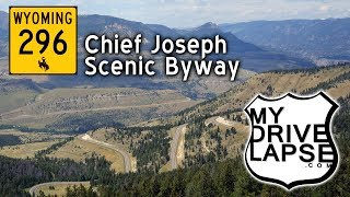 Chief Joseph Scenic Byway, Wyoming, westbound