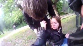 motorcycle accident with dog/ Мото дтп Мотоциклист сбил собаку