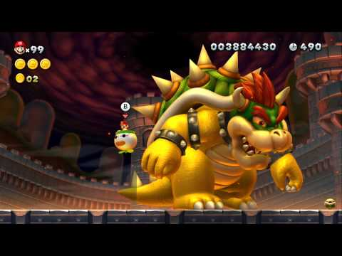 New Super Mario Bros. U 100% Walkthrough Part 22 - The Final Battle (Final Boss and Credits)