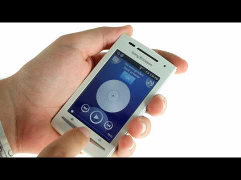 Youtube Video Sony Ericsson Xperia X8 (Shakira) dark blue / silver mit Zusatzcover white