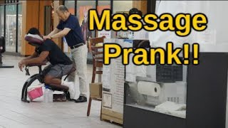 Moaning while getting a MASSAGE PRANK at the mall
