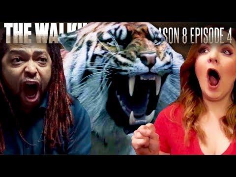 The Walking Dead: Season 8 Episode 4 Shiva Fan Reaction Compilation
