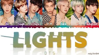 BTS (日本語字幕) – ''LIGHTS' Lyrics [Color Coded_Kan_Rom_Eng]