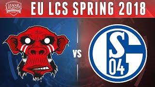 MM vs S04, Game 1 - EU LCS 2018 Spring Promotion  - Mysterious Monkeys vs Schalke04 G1
