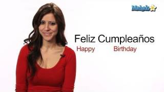"How to Say ""Happy Birthday"" in Spanish"