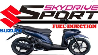 SUZUKI SKYDRIVE MATTE BLACK & BLUE CANVASSING