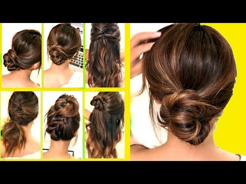 TOP 10 ★ LAZY - RUNNING LATE HAIRSTYLES &amp HACKS for FRIZZY HAIR - EASY! 💜 Spring Peinados