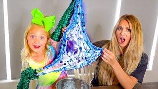 Making Mermaid Slime While Wearing Mermaid Gloves... This didn't end well!!!