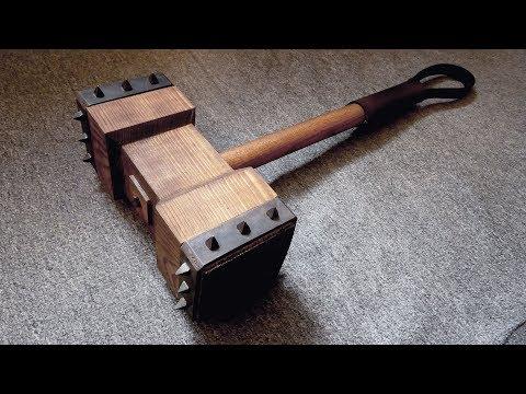 Making Wooden Battle Hammer