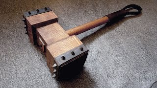 Making Wooden Battle Hammer
