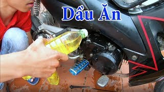 PHD | Thay Nhớt Xe Máy Bằng Dầu Ăn | Using Cooking Oil as Engine Oil in Bike