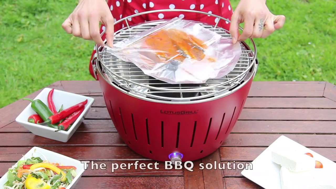 Lotus Grill XL BBQ in Orange with Free Fire Lighter Gel & Charcoal