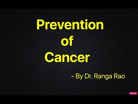 PREVENTION OF CANCER by Dr. Ranga Rao (Hindi)