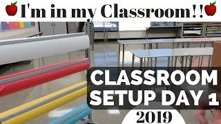 Classroom Setup Day 1   High School Teacher Vlog  classroom tour and setup!
