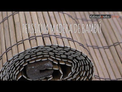 Instalación persianas de bambú enrollables