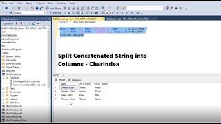 SQL Query | Split Concatenated String into Columns | CharIndex