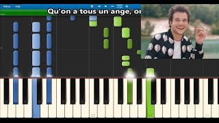 Amir   On Dirait   Karaoke  Piano Synthesia Tutorial (+ Lyrics & Sheet Music)