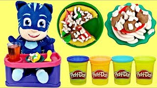 PJ MASKS Catboy Eats in High Chair Play-doh Kitchen Creation